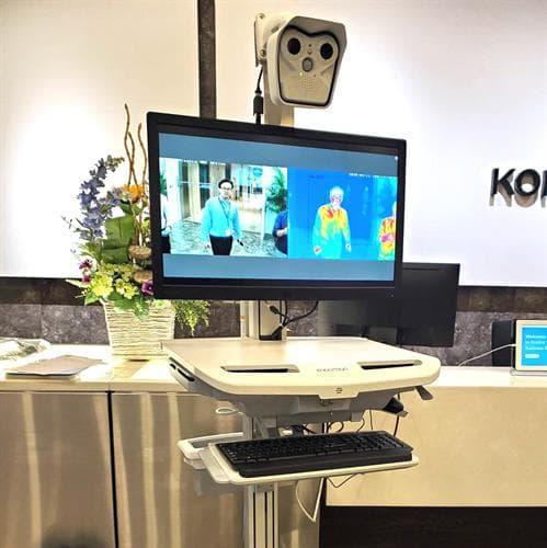 Meridian's Konica Minolta MOBOTIX Thermal Screening Station